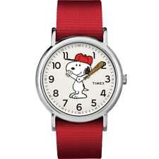 Timex Weekender X Peanuts Nylon Strap Watch Charlie Brown Linus Lucy Snoopy