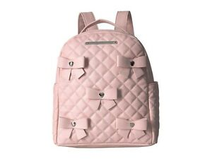 Betsey Johnson Kitsch Bows Pink Large Size Backpack  FACTORY SEALED