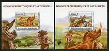 Burundi 2012 Preistoric Man And Art Set Of Two Deluxe Souvenir Sheets Mint Nh
