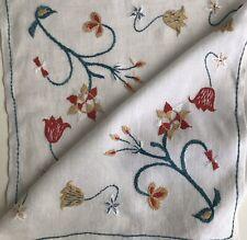 C 1900 Vintage Linen Arts Crafts Embroidered Tablecloth Art Nouveau Mission