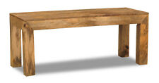 DAKOTA LIGHT SOLID MANGO FURNITURE 110CM BENCH (73L)