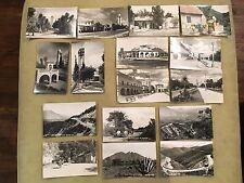 Vintage 1940's Lot of 16 RPPC Monterrey Mexico Postcards Downtown Hotel Unused