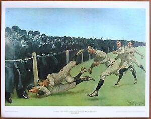Frederic Remington Touchdown Yale VS Princeton 1st Prnt Ltd. Ed Orig 1960 Litho