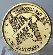 Vietnam Vet In Recovery Serenity Prayer Bronze Medallion Coin Chip AA NA Vets