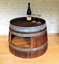 Weinfass Couchtisch mit Ablage Fassdaube Sofatisch Beistelltisch Upcycling