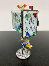 KELVIN CHEN Designer Enamel Desk US Mail Stamp Holder Dispenser