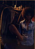 Vintage Photo Slide 1973 Women Talking Intense Lighting