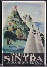 "Sintra / Portugal Vintage Travel Poster 2"" X 3"" Fridge / Locker Magnet. Lisbon"