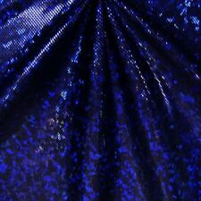 ROYAL BLUE BLACK METALLIC HOLOGRAM SPANDEX LYCRA FABRIC $14.99/YARD