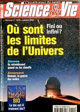 b)Science et vie n°1009 du 10/2001; Où sont les limites de l'univers ?/ Bio