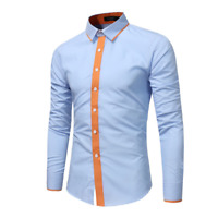 Fashion Mens Luxury Casual Stylish Slim Fit Long Sleeve Casual Dress Shirts Tops