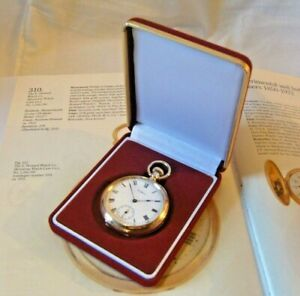 Pocket Watch Box Antique Style Rich Red Velvet Display Box With Recessed Base