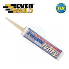 Everbuild Forever Ivory Bath Sanitary Frame Silicone C3 Anti Mould Sealant 310ml