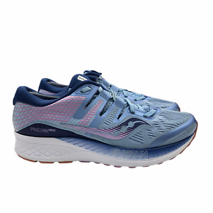 Saucony Everun ISO Series Shoes Running Ride Sneakers Blue/Pink Womens 8.5 Wide