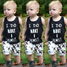 Newborn Baby Boys Summer Clothes Tops T-shirt Vest Short pants 2pcs Outfits Set