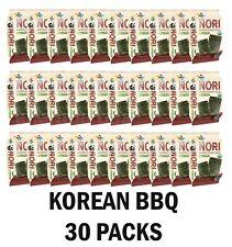 Organic Kimnori Seasoned Roasted Seaweed Snacks - 30 Packs  Korean BBQ  Kim Nori