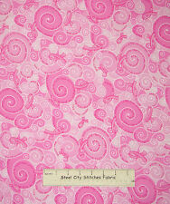 Pink Ribbon Awareness Fabric ~ 100% Cotton By The Yard ~ Timeless Treasures