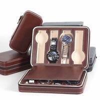 2/4/8 Grids PU Leather Watch Jewelry Display Storage Holder Case Box Organizer