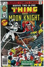 MARVEL TWO IN ONE 52 early Moon Knight app. 1979 HIGH GRADE 9.0+ CGC Ready Perez