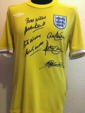 England Goalkeeping Legends Shirt Signed Banks Bonetti Shilton Stepney Clemence