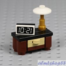 LEGO - Bedroom Nightstand w/ Alarm Clock & Lamp Minifig Home Furniture City Town