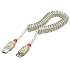 Lindy 31927 USB 2.0 Coiled Extension Cable Type A to Type A - Min 20cm to Max 2M