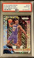 2018 Panini Prizm DeAndre Ayton Rookie RC Fast Break Prizm #279 PSA 10 GEM MINT