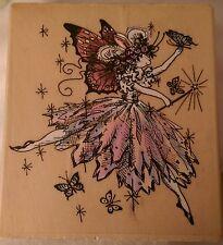 Psx Pamela Silin Palmer Htf Rainbow Rabbit Fairy Wm Art Rubber Stamp Ballerina