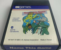 Vintage Video Game 'Name This Game' Atari 2600 Sears By US Games w manual Box
