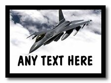 Fighter Jet Plane Personalised Dinner Table Placemat