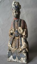 Ancienne statuette Chinoise, Dignitaire Période QING XIXe 5
