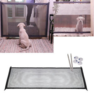 Home Magic Gate Portable Folding Safety Guard For Pet Dog Cat Isolated Gauze GB