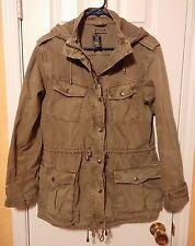 Aritzia Talula Trooper Hooded Army Field Jacket  -Surplus Olive Women's M - EUC!