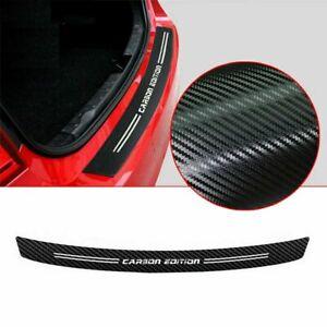 Universal 4D Carbon Fiber Look Car Rear Bumper Trunk Tail Lip Protect Sticker