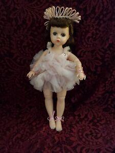 "Vintage Madame Alexander Hard Plastic Ballerina ""Lissy"" Doll 12"" Cute"