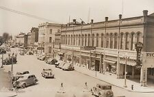 RPPC Street scene on Court Ave in Pendleton lots of businesses and cars 10816