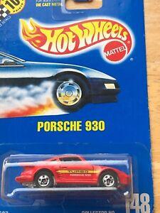 Mattel Hot Wheels Collector Blue Card #148 Turbo Porsche 930 Car Red