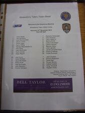 23/11/2013 Colour Teamsheet: Shrewsbury Town v Notts County  (Folded). Thanks fo