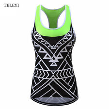 TELEYI Team Summer Cycling Jersey Sleeveless Womens Wear Reflective Sports Vests
