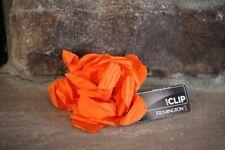 NEW REMINGTON  BRIGHT ORANGE SILK FLOWER  CLIP PONYTAIL FOR HAIR VERY CUTE