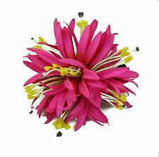 Hawaii Hair Clip Lei Luau Competition Flower Dance Large Spider Lily Pink Solid