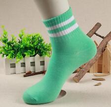 5Pairs Stripe Women Men Sport Short Baseball Football Soccer Ankle Socks Summer