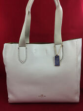 New COACH F58660 Pebble Leather Derby Tote Shoulder Bag Handbag Purse White