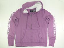 Abercrombie & Fitch Full Zip Purple Hoodie Women's Size Medium ~New/Sealed~