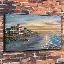 Art Prints Oil Painting on Canvas - Gold Beach By Robert Finale ( No Framed )