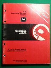 John Deere 430 Lawn & Garden Tractors Owner'S Manual
