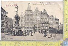 Cartolina  Anvers - Monument Brabo - Vg Belge Congo - 1908