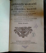 J.B. Cancellotto, Annales Mariani, 1757, in folio