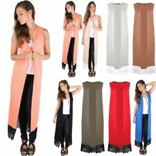 Unbranded Long Sleeveless Jumpers & Cardigans for Women