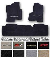 1999-2017 Chevrolet Silverado 3pc Carpet Floor Mats-Choose Color & Official Logo